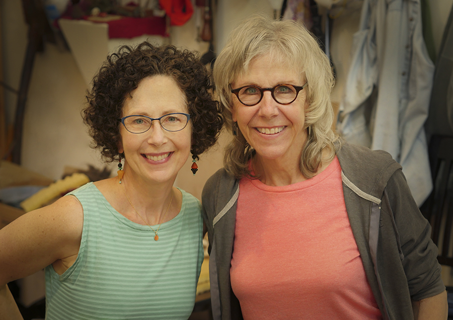 Pamela Blotner with collaborator, Elizabeth Addison.