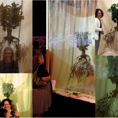 The Making Of Tonglen Gift Roots of Memory ©Pamela Blotner and ELizabeth Addison